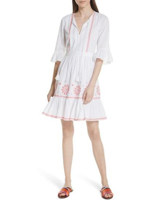 Kate Spade - White Mosaic Embroidered Dress - Lyst