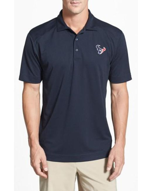 Cutter & Buck | Blue 'Houston Texans - Genre' Drytec Moisture Wicking Polo for Men | Lyst