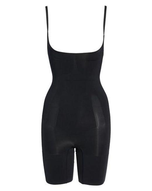 Spanx - Black Spanx Oncore Mid Thigh Bodysuit - Lyst