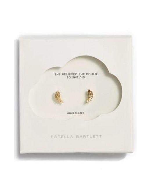 Estella Bartlett | Metallic Wing Stud Earrings | Lyst