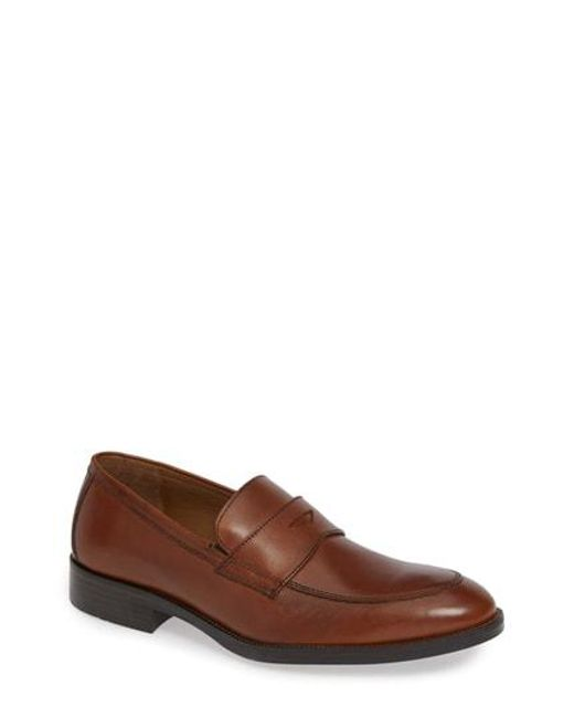 Johnston & Murphy - Brown Alcott Penny Loafer for Men - Lyst