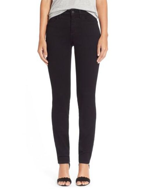 NYDJ - Black Alina Colored Stretch Skinny Jeans - Lyst