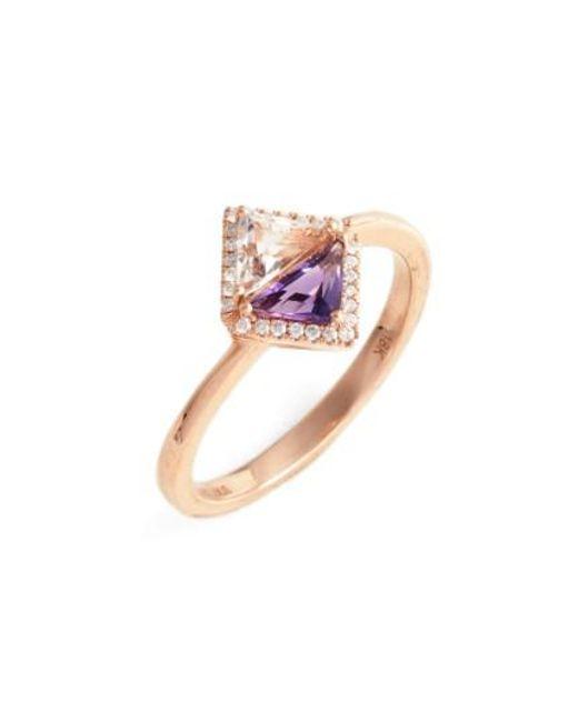 Bony Levy | Blue Iris Double Triangle Diamond & Semiprecious Stone Ring (nordstrom Exclusive) | Lyst