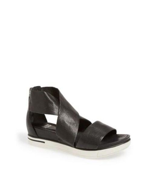 Eileen Fisher | Black Sport Platform Sandal | Lyst