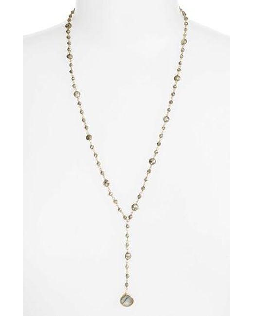 Ela Rae   Metallic Yaeli Satellite 24 Semiprecious Stone Y-necklace   Lyst