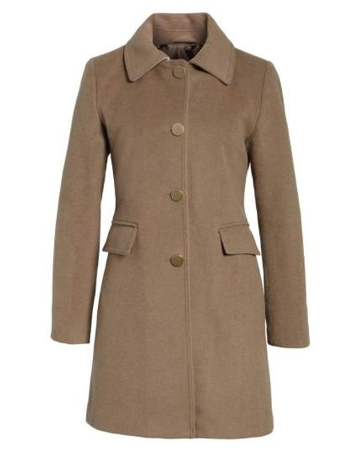 Tahari | Brown Sophia Wool A-line Coat | Lyst