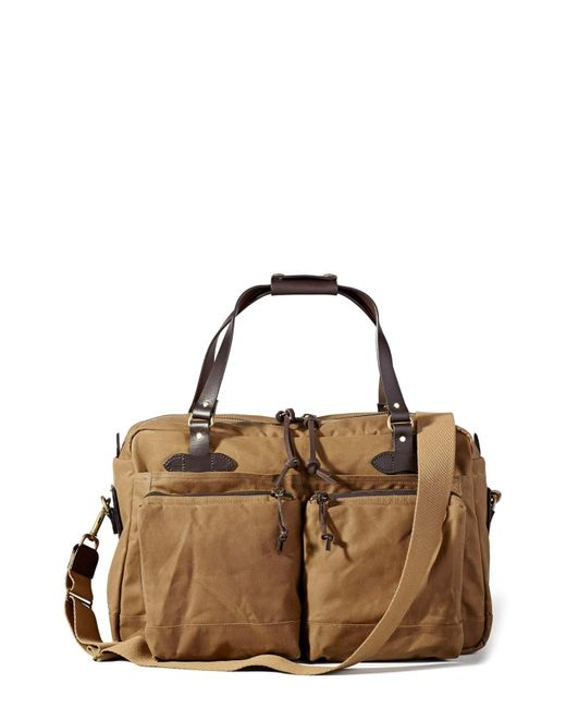 Filson Brown 48 Hour Tin Cloth Duffle Bag - Otter Green for men