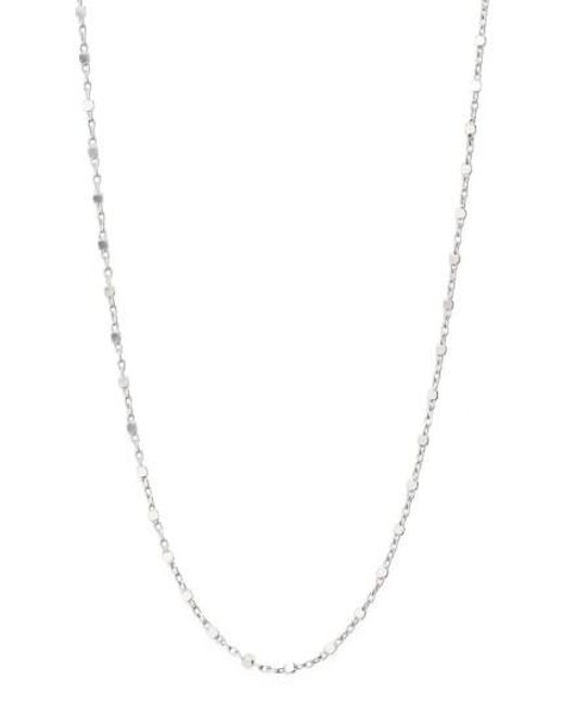 Bony Levy | White Beaded Chain Collar Necklace (nordstrom Exclusive) | Lyst