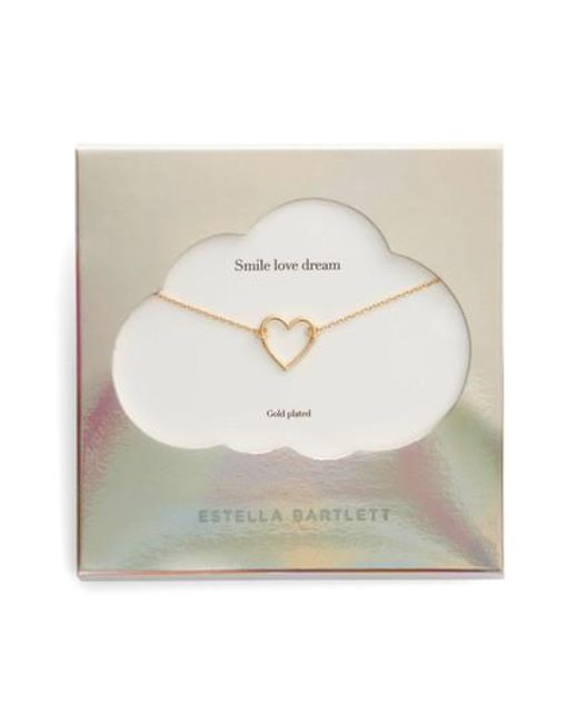 Estella Bartlett | Metallic Smile Dream Love Open Heart Necklace | Lyst