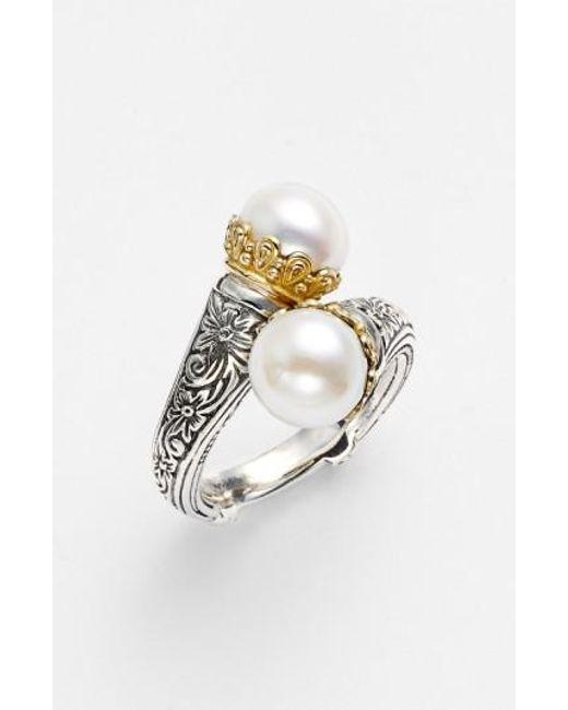 Konstantino | Metallic 'hermione' Pearl Coil Ring | Lyst