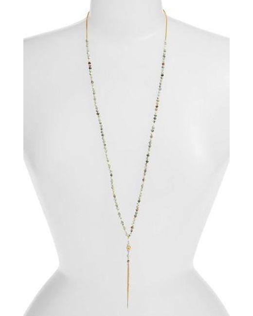 Chan Luu - Metallic Larimar Mix Dagger Pendant Necklace - Lyst