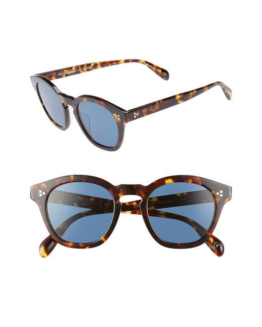 Oliver Peoples - Brown Boudreau L.a. 48mm Round Sunglasses - for Men - Lyst