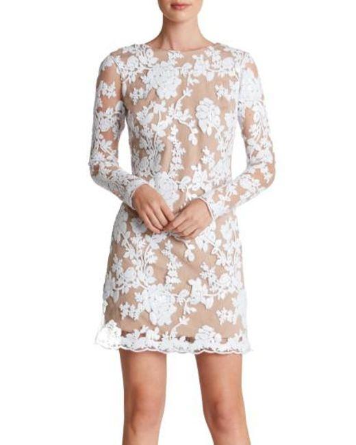 Dress the Population   White Grace A-line Dress   Lyst