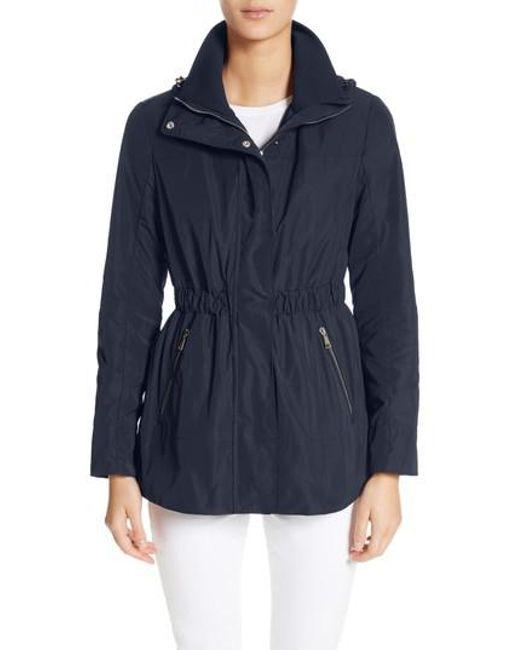 Moncler - Blue Disthene Water Resistant Hooded Jacket - Lyst