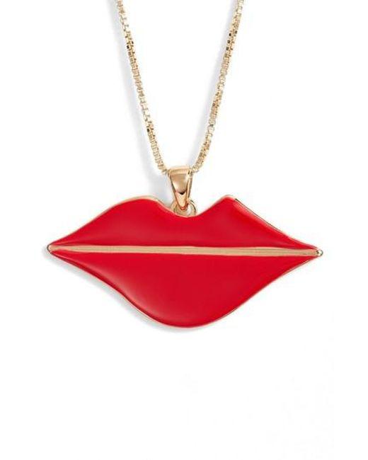 Jenny Bird - Red La Bouche Pendant Necklace - Lyst