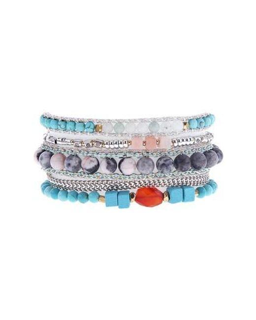 Nakamol - Blue Multi Stone Cuff Bracelet - Lyst