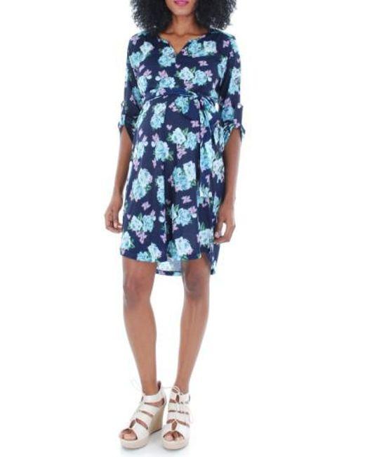 Everly Grey | Blue 'hudson' Maternity Dress | Lyst