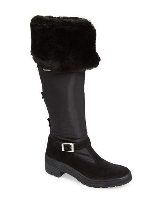 Pajar | Black Norah Waterproof Boot With Faux Fur Cuff | Lyst