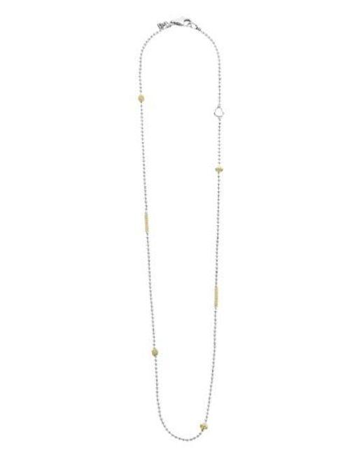 Lagos | Metallic 'caviar Icon' Chain Necklace | Lyst