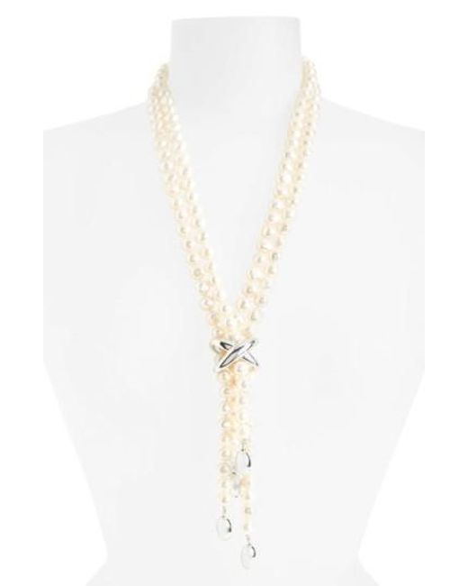 Simon Sebbag   White Freshwater Pearl Y-necklace   Lyst