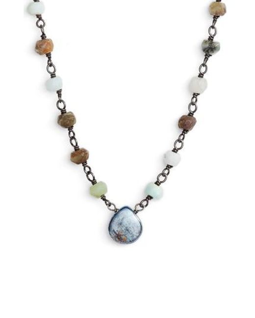 Ela Rae   Metallic Beaded Collar Necklace   Lyst