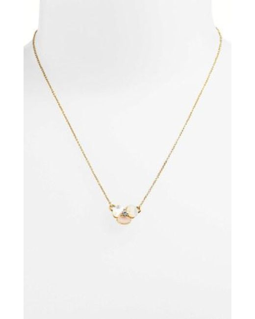 Kate Spade - Metallic 'disco Pansy' Pendant Necklace - Lyst