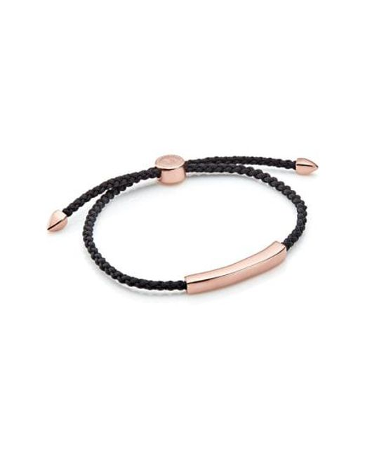 Monica Vinader - Metallic Engravable Havana Men's Friendship Bracelet - Lyst