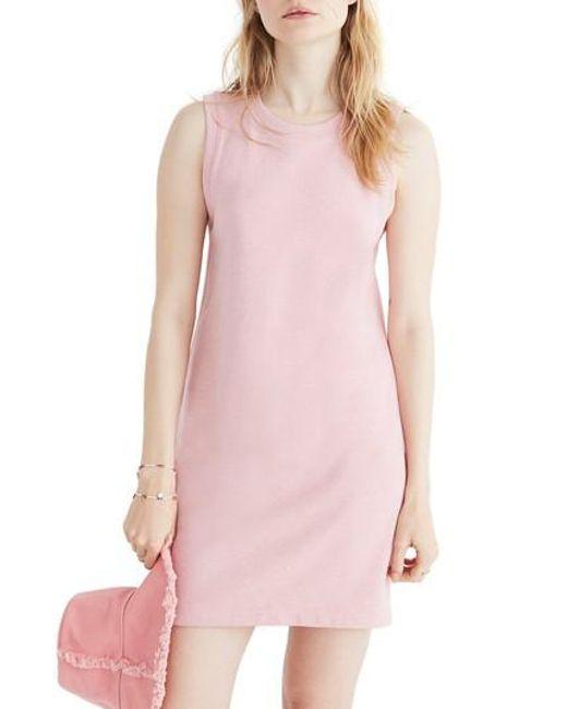 Madewell - Pink Muscle Sweatshirt Dress - Lyst