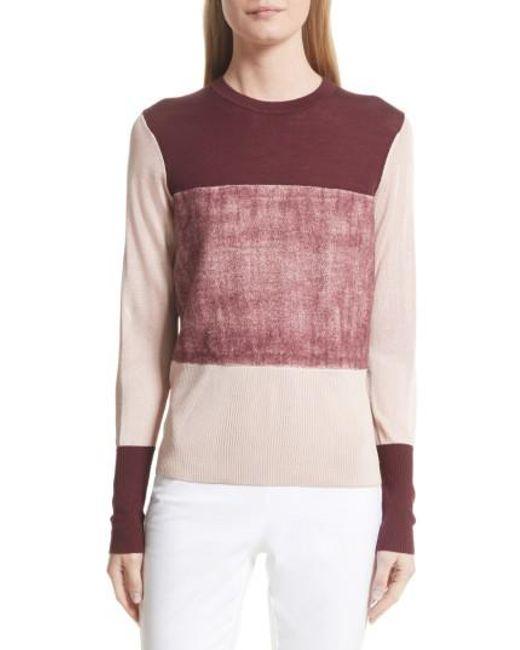 Rag & Bone   Pink Marissa Colorblock Sweater   Lyst