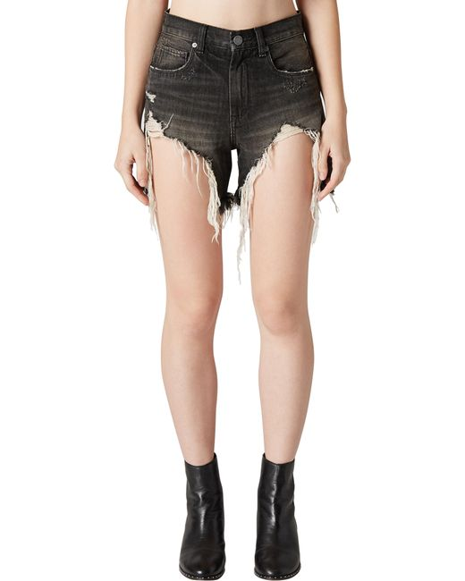 Blank NYC - Multicolor Distressed Denim Mom Shorts - Lyst