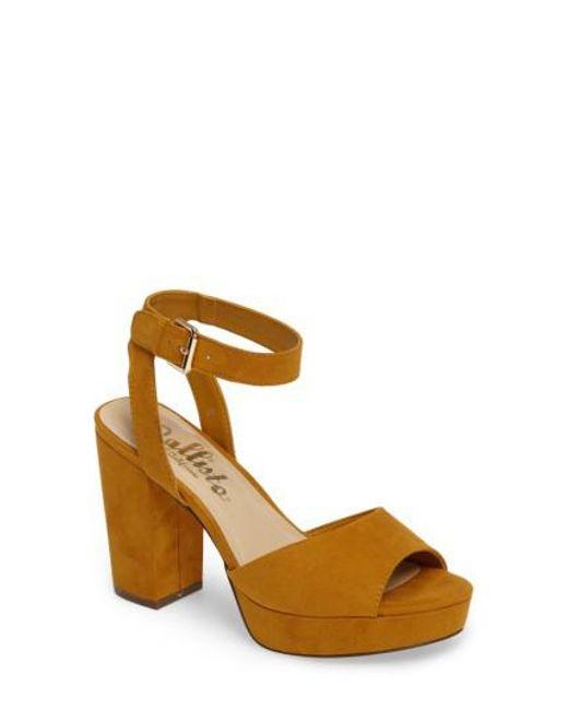 Callisto | Brown Jerzy Platform Sandal | Lyst
