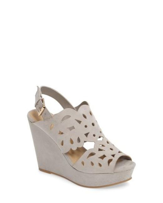 Chinese Laundry | Gray In Love Wedge Sandal | Lyst