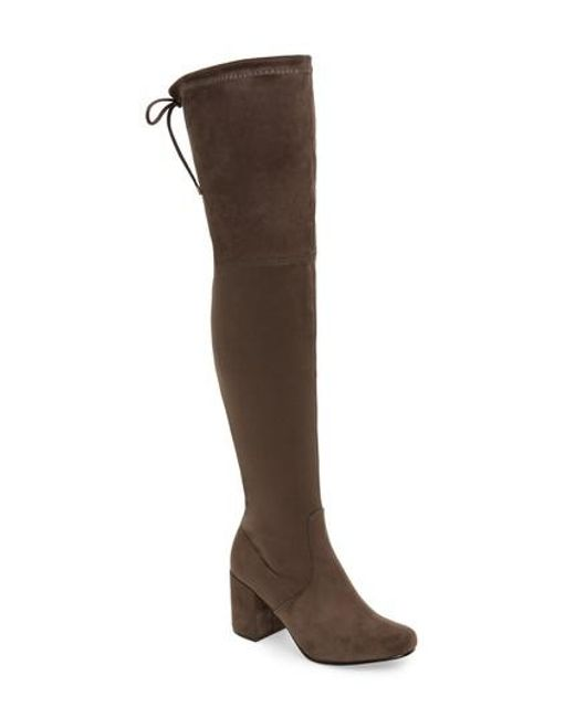 Very Volatile | Gray Heartbeat Over The Knee Boot | Lyst