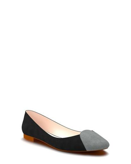 Shoes Of Prey | Red Loafer Ballet Flat | Lyst