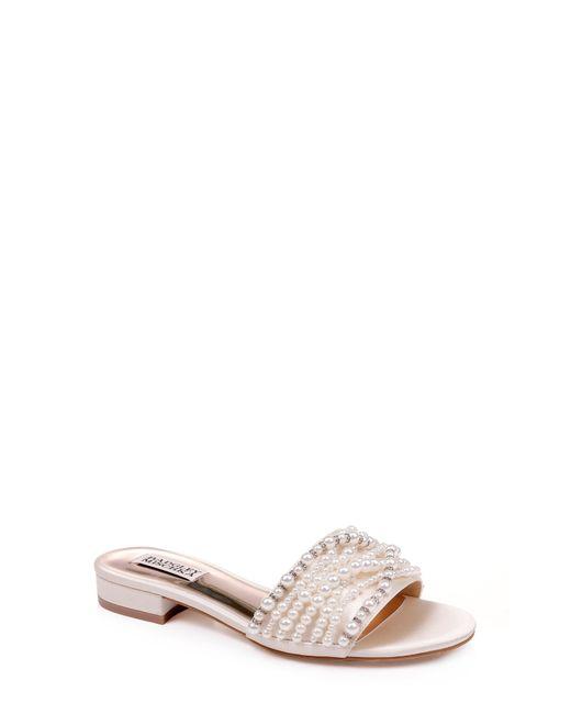 dea151a32 Badgley Mischka - White Badgley Mischka Florentina Embellished Slide Sandal  - Lyst ...
