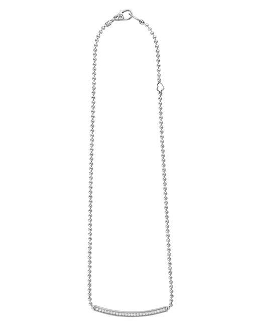 Lagos - Metallic Caviar Spark Diamond Bar Necklace - Lyst