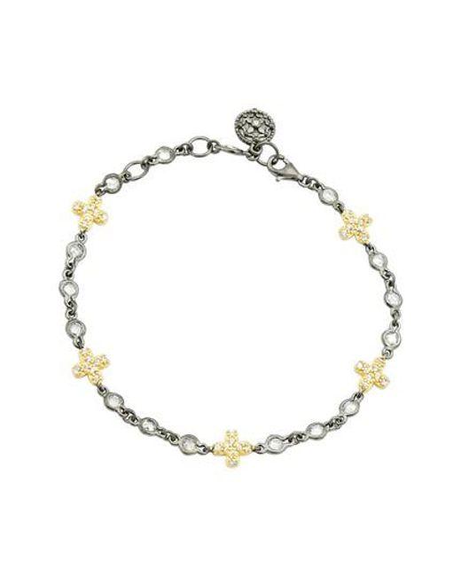 Freida Rothman - Metallic Cross Line Bracelet - Lyst