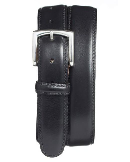 Bosca - Black Calfskin Leather Belt for Men - Lyst