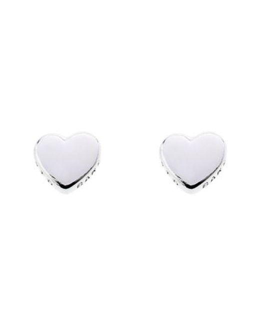 Ted Baker - Metallic Sweetheart Stud Earrings - Lyst