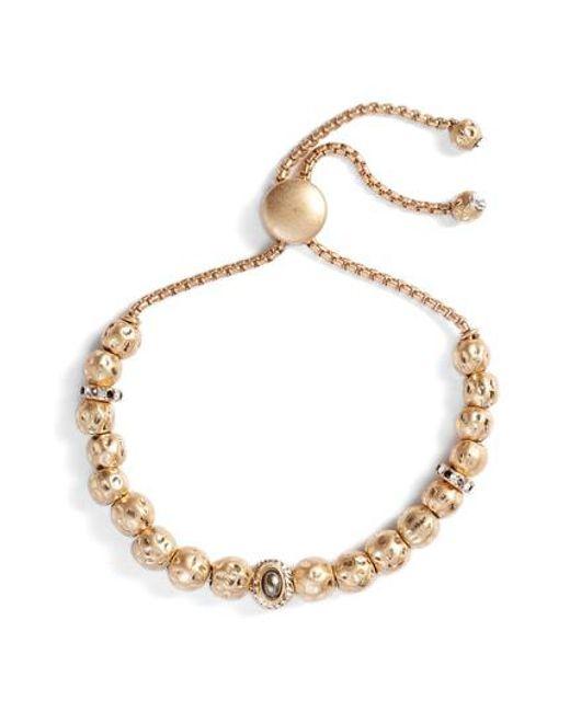 Treasure & Bond - Metallic Hammered Sphere Charm Adjustable Bracelet - Lyst