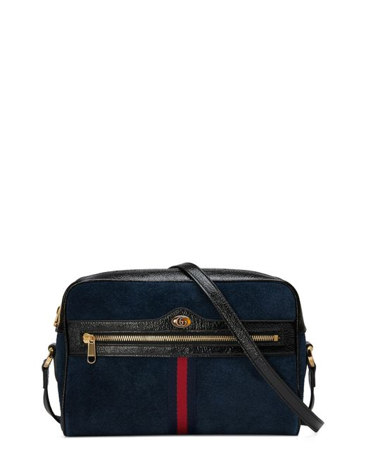 Gucci - Blue Ophidia Small Suede Crossbody Bag - Lyst