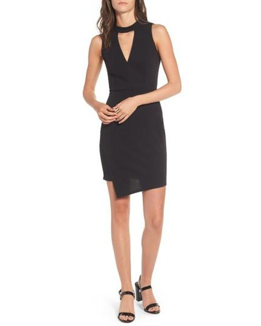 Soprano | Black Asymmetrical Body-con Dress | Lyst