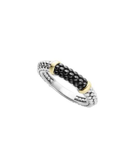 Lagos | Metallic 'caviar' Stacking Ring | Lyst