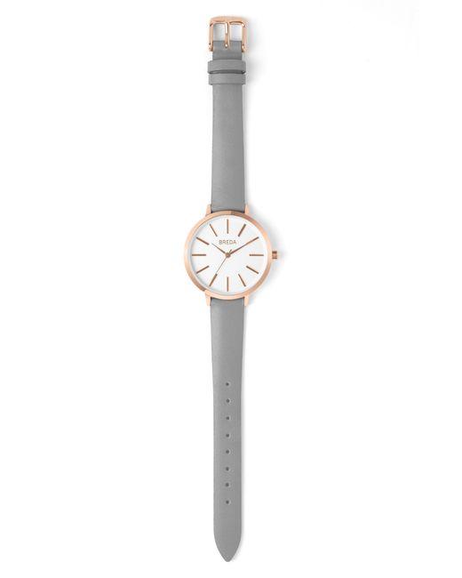 Breda - White Joule Round Leather Strap Watch - Lyst