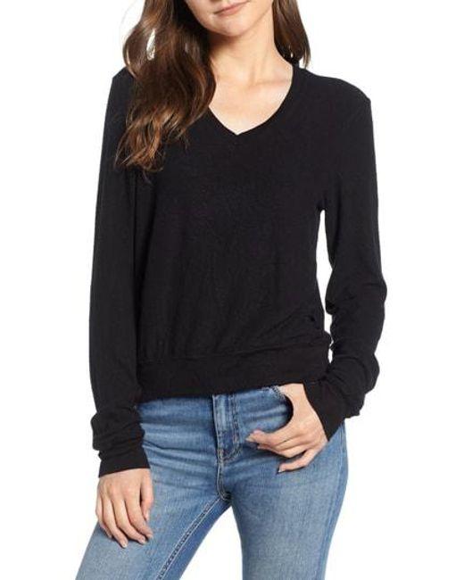 Wildfox - Black V-neck Pullover - Lyst