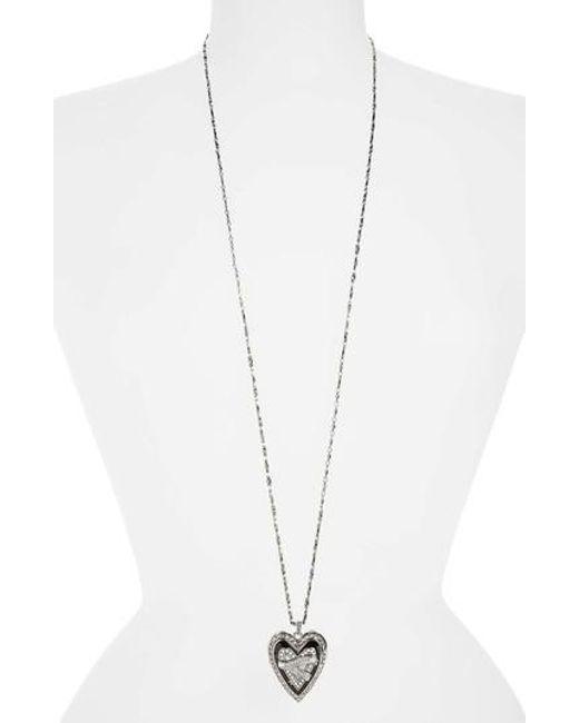 Alexander McQueen   Metallic Heart Pendant Necklace   Lyst