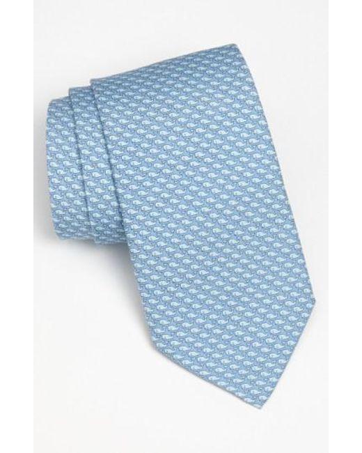 Vineyard Vines   Blue 'whale' Silk Tie for Men   Lyst