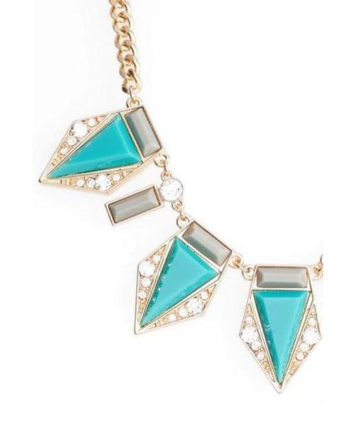 Adia Kibur   Blue Triangle Stone Necklace   Lyst