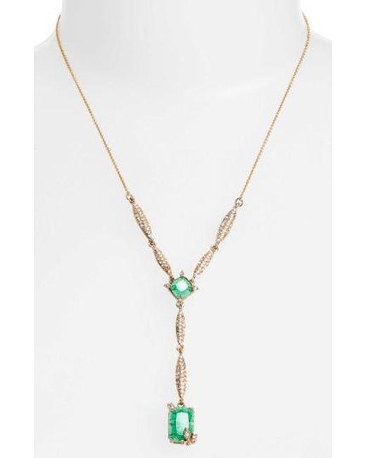 Jenny Packham - Metallic Y-necklace - Lyst