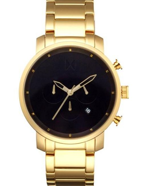 MVMT | Metallic Chronograph Bracelet Watch | Lyst